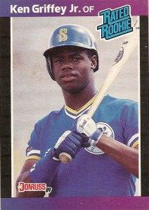 Ken Griffey Jr Seattle Mariners 1989 Donruss Rated Rookie